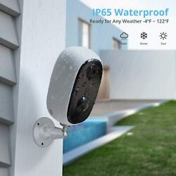 Waterproof Wireless Security Camera Wifi 1080p Motion Detection Rechargeable