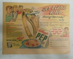 Kellogg's Pep Cereal Ad Jet Plane Ring Premium From 1948 Size 7 X 10 Inches