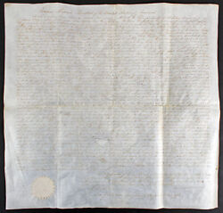 James Monroe Authentic Signed 19.25x20.25 1931 Land Grant Dated Bas Aa03017