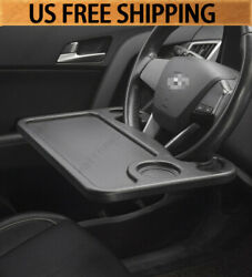 Black Car Laptop And Food Steering Wheel Tray Organizer Holder Big Size Convenient