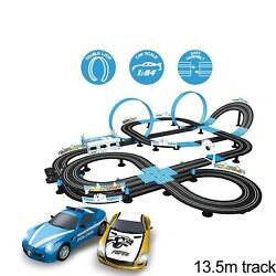 164 Track Racing Car Toy Set Electric Railway Double Remote Control Children's