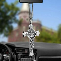 LeapoFaith Christ Crucifix Cross for Car Rear View Mirrors Decorative Jesus Pen $23.94