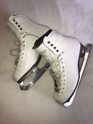 Riedell Edge Women's/youth Figure Ice Skates Women's Size 5.5 Us 7 W/ Blades