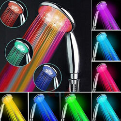 Colors Changing Rgb Shower Head 7 Colorful Led Light Water Bath Bathroom