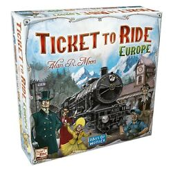 Ticket To Ride Europe Days Of Wonder Board Game - Factory Sealed New