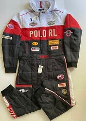 Polo Men's Water Repellent Oxford-racing Jacket Andpant Set, Size Xl