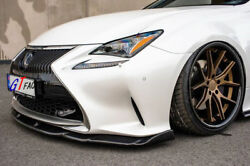 Amgn Style Carbon Front Bumper Lip Kits For Lexus Rc350/300h F-sport Gsc10 Avc10