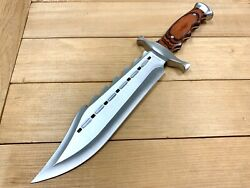 15wood Tactical Combat Fixed Blade Bowie Knife W/ Sheath Rambo Hunting Survival