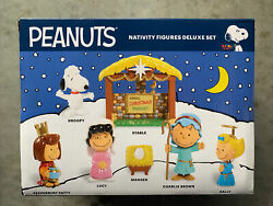 Peanuts Nativity Figures Deluxe Set Christmas Snoopy Charlie Brown Lucy Snoopy