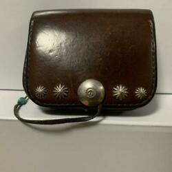 Goro's Dark Brown Leather Coin Purse With Apollo Concho Free Shipping From Jpn