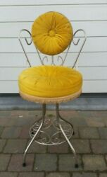 Vintage Mid Century Italian Vanity Chair Puppets Cushion Kitch