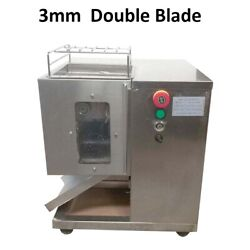3mm Meat Cutting Machine With Double Blade 110v Electric Meat Slicer Process