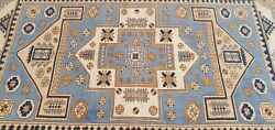 Rare Antique Cr1920-1939and039s Muted Natural Dye Wool Pile Armenian Oushak Rug 6x9ft
