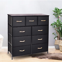 9 Drawer Dresser Bedroom Furniture Storage Nightstand Organizer Closet Cabinet