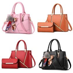 Women Leather Handbags Shoulder Bags Tote Purse Messenger Satchel Crossbody $22.99