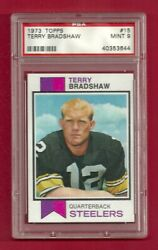 1973 Topps 15 Terry Bradshaw Psa 9 Mint Only 2 Higher Hof Pittsburgh Steelers