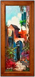 Colette Pope Heldner Original Oil Painting On Board Signed Cityscape New Orleans