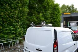 To Fit 2014+ Ford Transit Tourneo Connect Rear Roof Bar + 3 Function Led + Spots