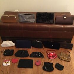 LOT OF 16 EVENING BAGS $65.00