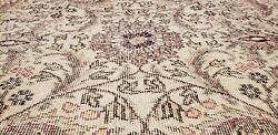 Stunning Late 1925and039s Antique Wool Pile Muted Dye Armenian Oushak Rug 7x10ft