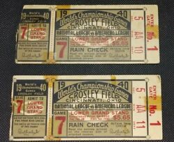 1940 World Series Game 7 Championship National League Vs American League Tickets