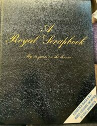 Queen Elizabeth Ii - A Royal Scrapbook My 25 Years On The Throne Hc Book Rare