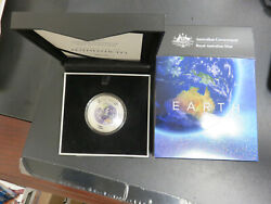 2018 Earth 5 1oz Silver Coloured Proof Domed Coin The Earth And Beyond Series Ram