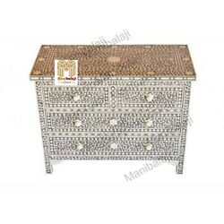 Bone Inlay Chest Of Drawers Four Drawer Inlay Dresser With Insurance Home Decor3