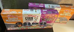 Earnhardt Kelloggs Racing Pack Cereal Boxes Unopened Vintage 1997 W/ Carrier