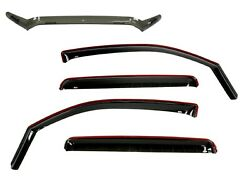 Wade Bug Shield And In-channel Wind Deflectors Smokey Black For16-21 Toyota Tacoma
