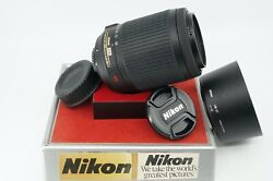 Nikon Af-s Nikkor Vr 55-200mm F/4-5.6 G Ed Zoom Lens Tech Cleaned And Checked
