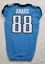88 Jace Amaro Of Tennessee Titans Nfl Locker Room Game Issued Jersey