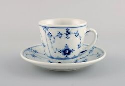 35 Bing And Grondahl Blue Fluted Hotel Coffee Cups With Saucers.