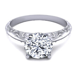 0.60 Ct Natural Diamond Engagement Solitaire Ring 14k White Gold Size 5 6 7 8 9