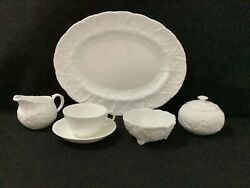 Wedgwood Countryware Creamer And Sugar Set Platter Cups Saucers And Sugar Bowl