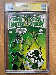 Green Lantern 76. Cgc 6.5 Signature Series, Signed By Neal Adams. Ow/w Pages.