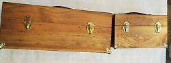 Vintage The Countrysport Wooden Crate Set Of Two Ammo Boxes Leather Handles Lock