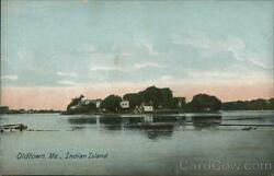 Old Townme Indian Island Leighton Penobscot County Maine Antique Postcard