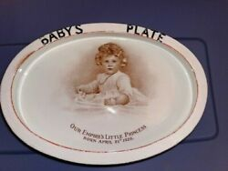 Queen Elizabeth 2 - Oval-shaped Babyand039s Plate - Paragon Empireand039s Little Princess