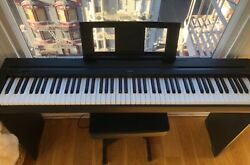 Yamaha P-45 88-key Weighted Action Digital Piano With Stand + Stool