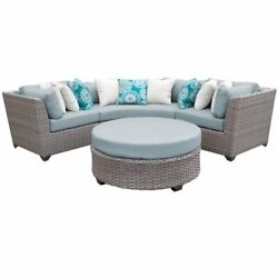 Florence 4 Piece Outdoor Wicker Patio Furniture Set 04a In Spa