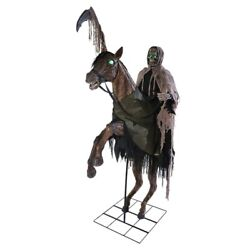 Reaperand039s Ride Animated Prop Lifesize Halloween Horseman Animatronic Haunted