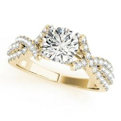 14 K Yellow Gold 1.00 Ct Real Delicate Diamond Solitaire Engagement Ring 6 7 5 4