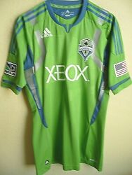Mls Adidas Techfit Powerweb Seattle Sounders Authentic Soccer Jersey 8 L Nwt