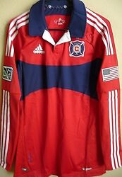 Mls Adidas Techfit Powerweb Chicago Fire Authentic Soccer Jersey Size 8 L Nwt