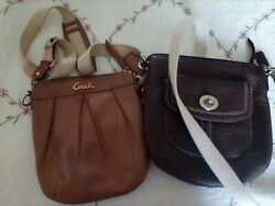 Small Coach Leather Cross body Handbags in Good Used Condition $35.00