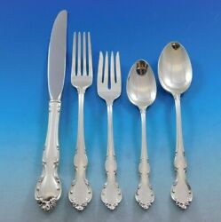 Pirouette By Alvin Sterling Silver Flatware Set For 8 Service 45 Pieces