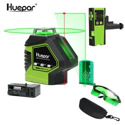 Self Leveling Green Laser Level 360 Degree Cross Line With 2 Plumb Dots+recevier