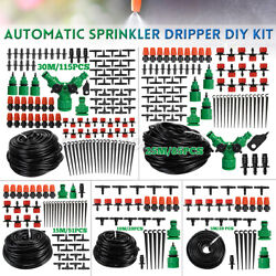 30m Diy Micro Drip Irrigation Kit System Hose Drippers Garden Plant Waterin D