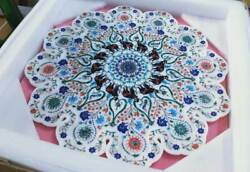 24 Marble Table Plate Inlay Pietra Dura Stone Malachite For Home Decor